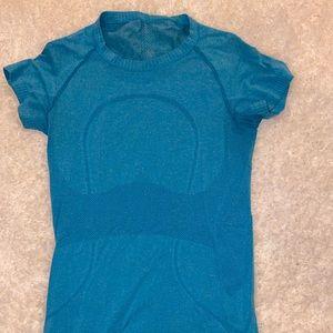 Lululemon blue cap sleeve